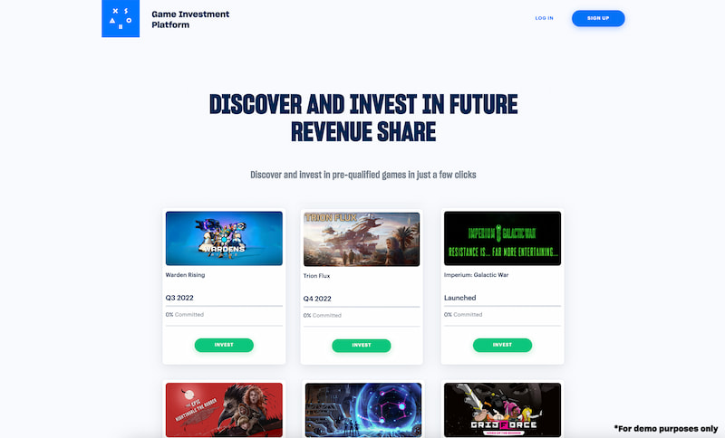 Xsolla Game Investment Platform home page